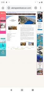 Sitio Web no responsivo